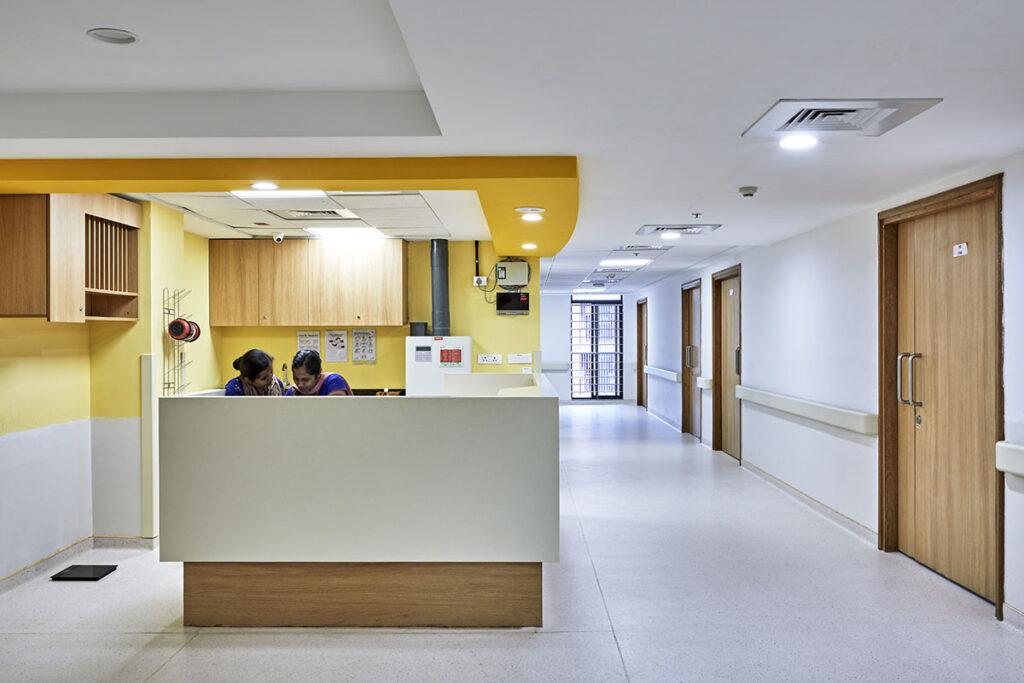 symbiosis university hospital interiors